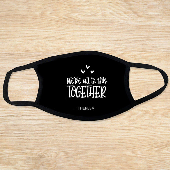 Personalized Reusable Face Coverings - Quotes Collection - We're in this together - Qualtry