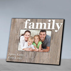 Personalized Family Picture Frame - All - Family - Frames - AGiftPersonalized