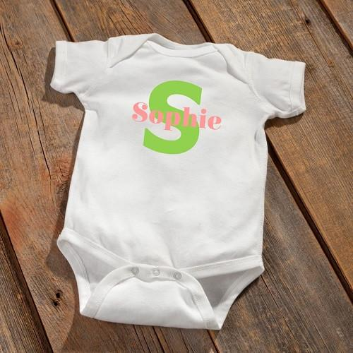 Personalized Baby Girl Bodysuit -  - JDS