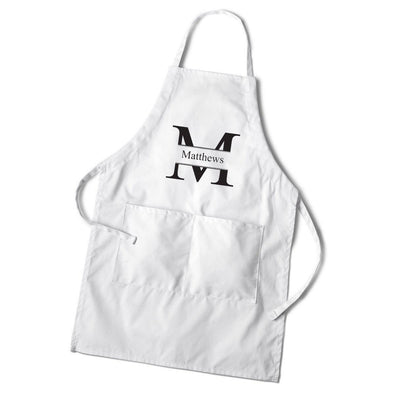 Personalized Men's White Apron -  - JDS