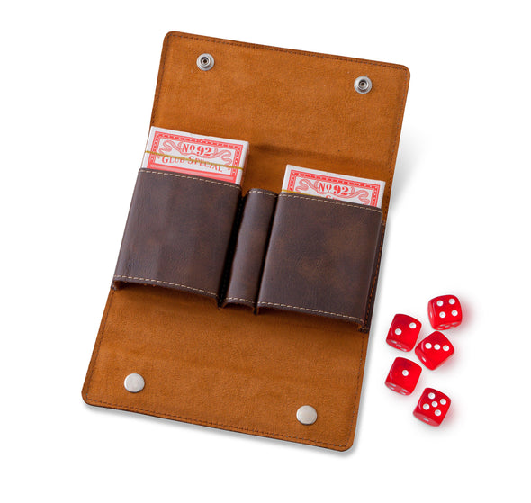 Personalized Card & Dice Set - Rustic Brown -  - JDS