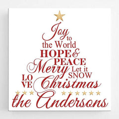 Personalized Christmas Canvas Sign - Joy to the World