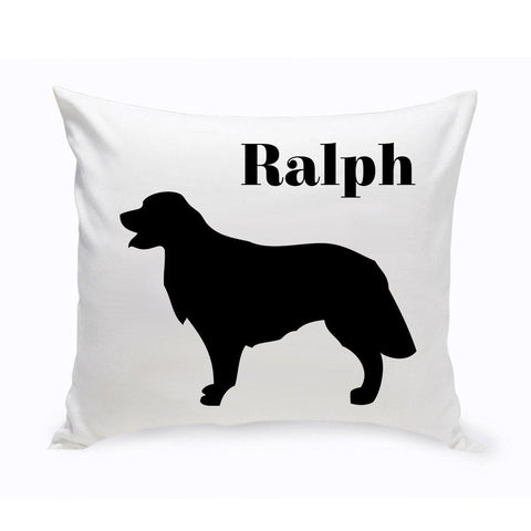 Monogrammed Dog Throw Pillow -  Classic Silhouette - GoldenRetriever - Pet Gifts - AGiftPersonalized