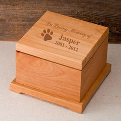 Personalized Small Wooden Pet Urn - Engraved Pet Urn - InMemory - Pet Gifts - AGiftPersonalized