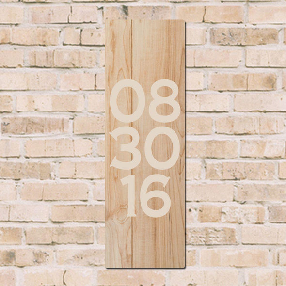 Personalized Painted Wood Date Board -  - JDS