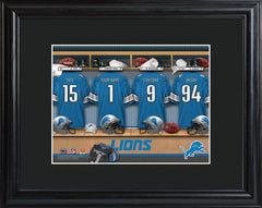 Personalized NFL Locker Sign w/Matted Frame - All Teams - Lions - Professional Sports Gifts - AGiftPersonalized
