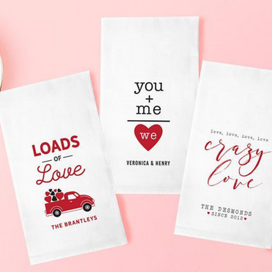 Personalized Tea Towels (Valentine's Day) -  - Qualtry