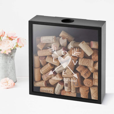 Personalized Love Arrows Shadow box -  - JDS