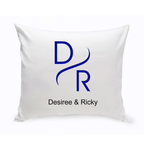 Personalized Couples Unity Throw Pillow - Modern