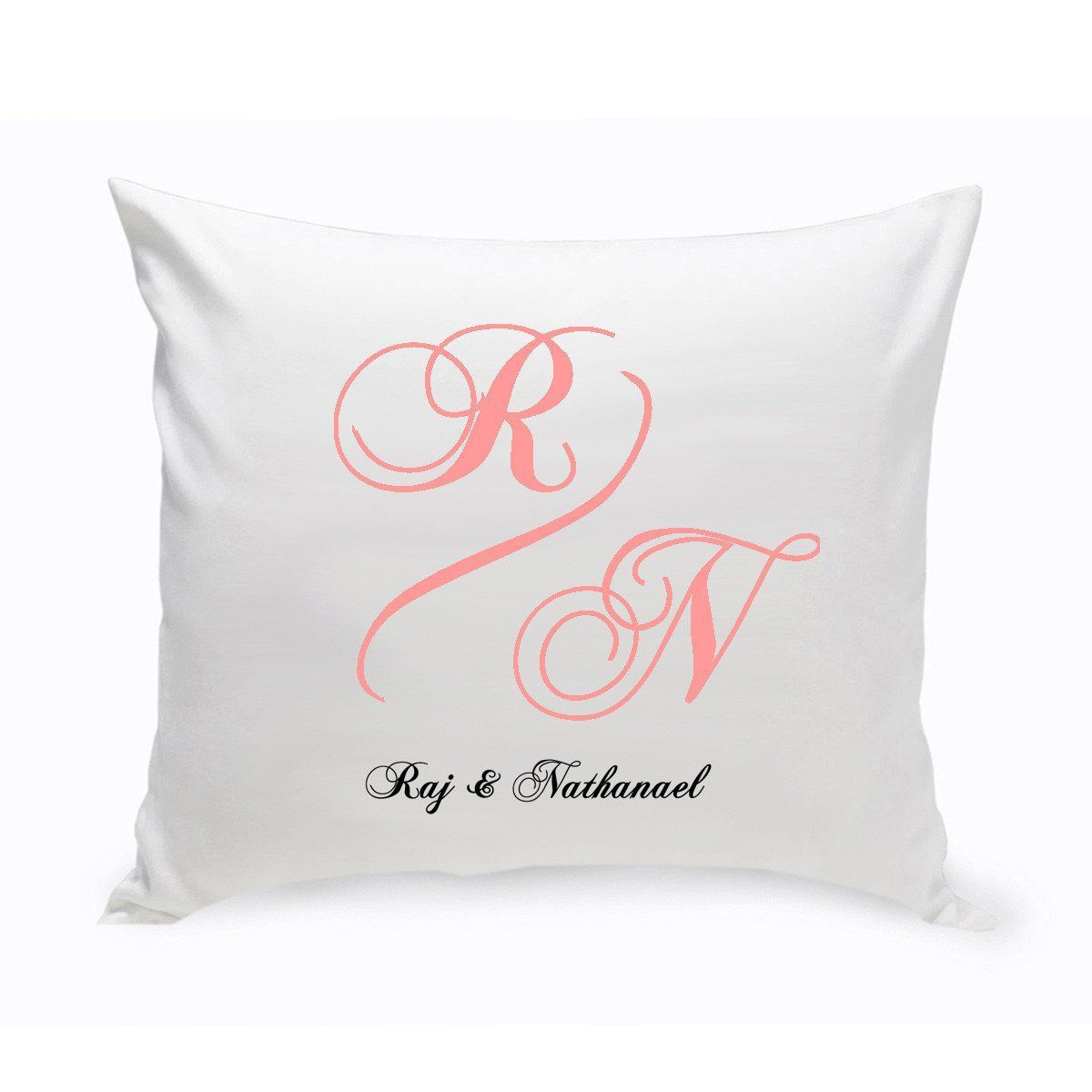 Personalized Monogrammed Throw Pillows - Couples Unity Monogrammed