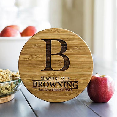 Personalized Solid Bamboo Trivets -  - Qualtry
