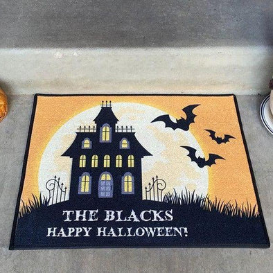 Personalized Medium Halloween Door Mats -  - Qualtry