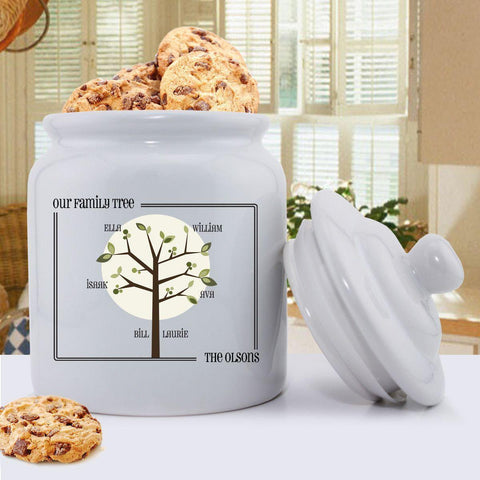 Personalized Family Tree Cookie Jar - Modern and Traditional Designs - Modern - Home Decor - AGiftPersonalized