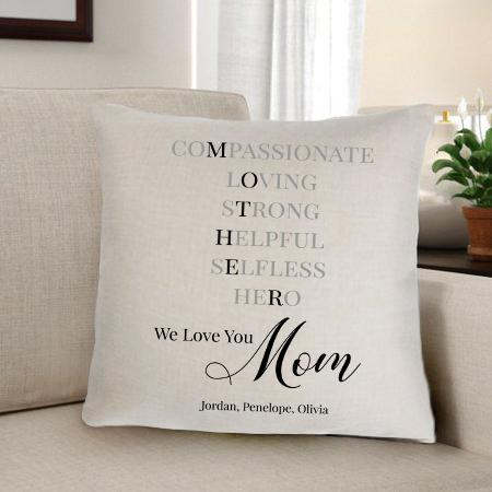 Mother Personalized Throw Pillow