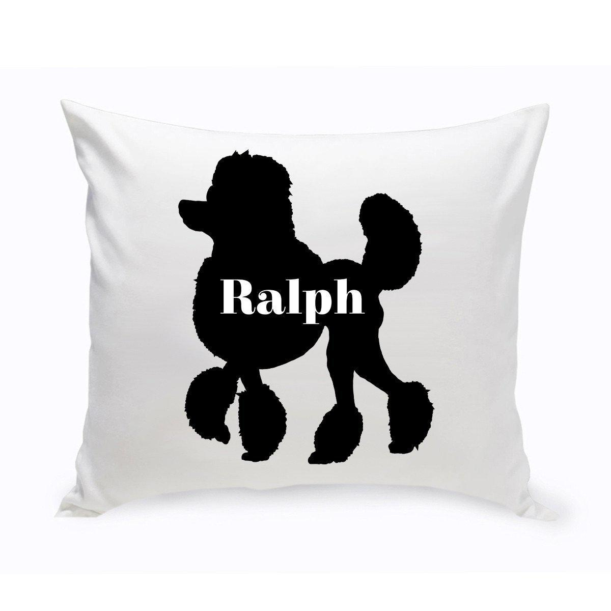 Personalized Dog Throw Pillow - Dog Silhouette