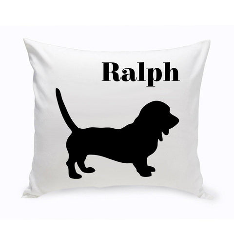 Monogrammed Dog Throw Pillow -  Classic Silhouette - Dachsund - Pet Gifts - AGiftPersonalized