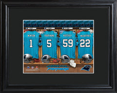 Personalized NFL Locker Sign w/Matted Frame - All Teams - Panthers - Professional Sports Gifts - AGiftPersonalized