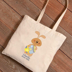 Personalized Easter Canvas Bag - Pastel Bunny -  - Tote Bags - AGiftPersonalized