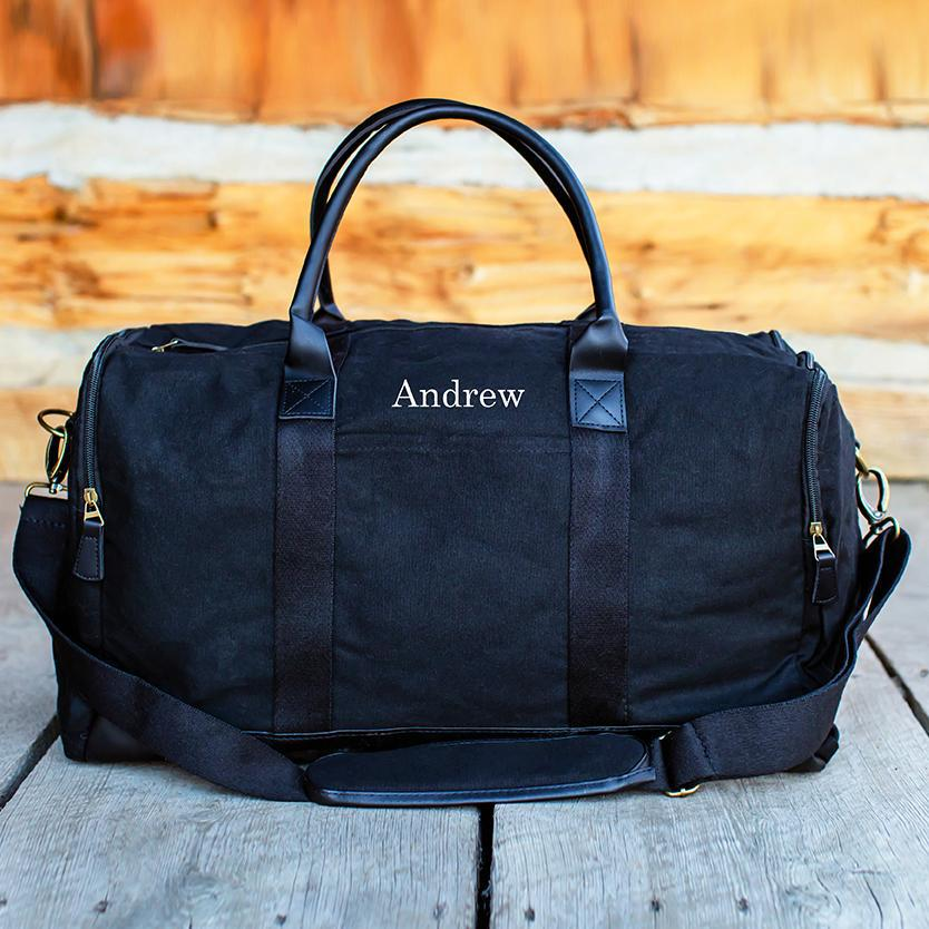 Personalized Heavy Canvas Weekender Duffle Bags