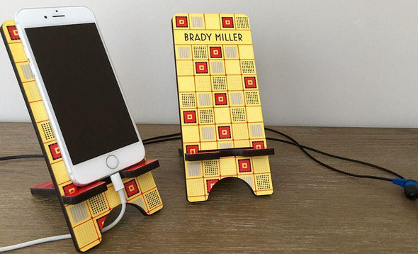 Personalized Cell Phone Stands - Geometric Shapes -  - Qualtry