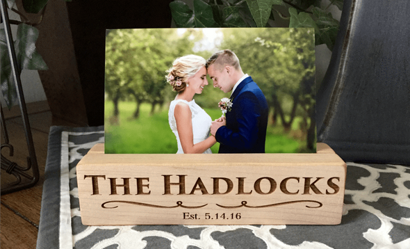 Personalized Photo Blocks - Maple - Qualtry