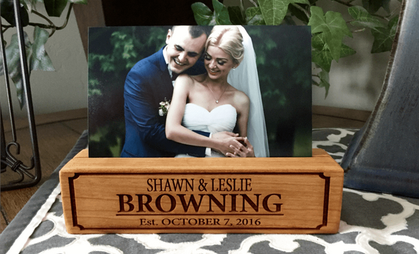 Personalized Photo Blocks - Cherry - Qualtry