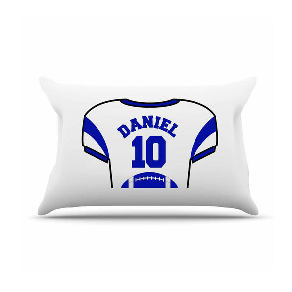 Personalized Kids Sports Jersey Pillowcase - Navy Blue - JDS