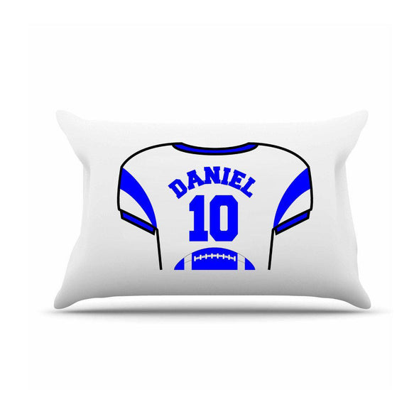 Personalized Kids Sports Jersey Pillowcase - Royal Blue - JDS