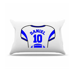 Personalized Kids Jersey Pillow Case - RoyalBlue - Gifts for Kids - AGiftPersonalized