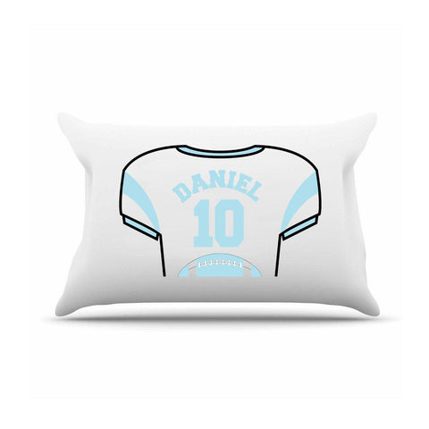 Personalized Kids Jersey Pillow Case - SkyBlue - Gifts for Kids - AGiftPersonalized