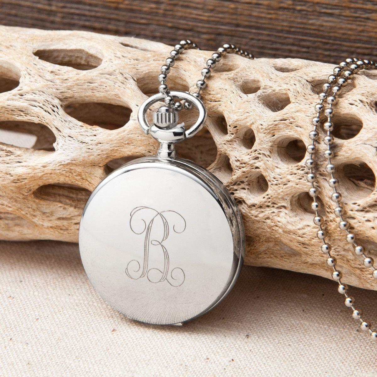 Personalized Women's Clock Pendant Necklace
