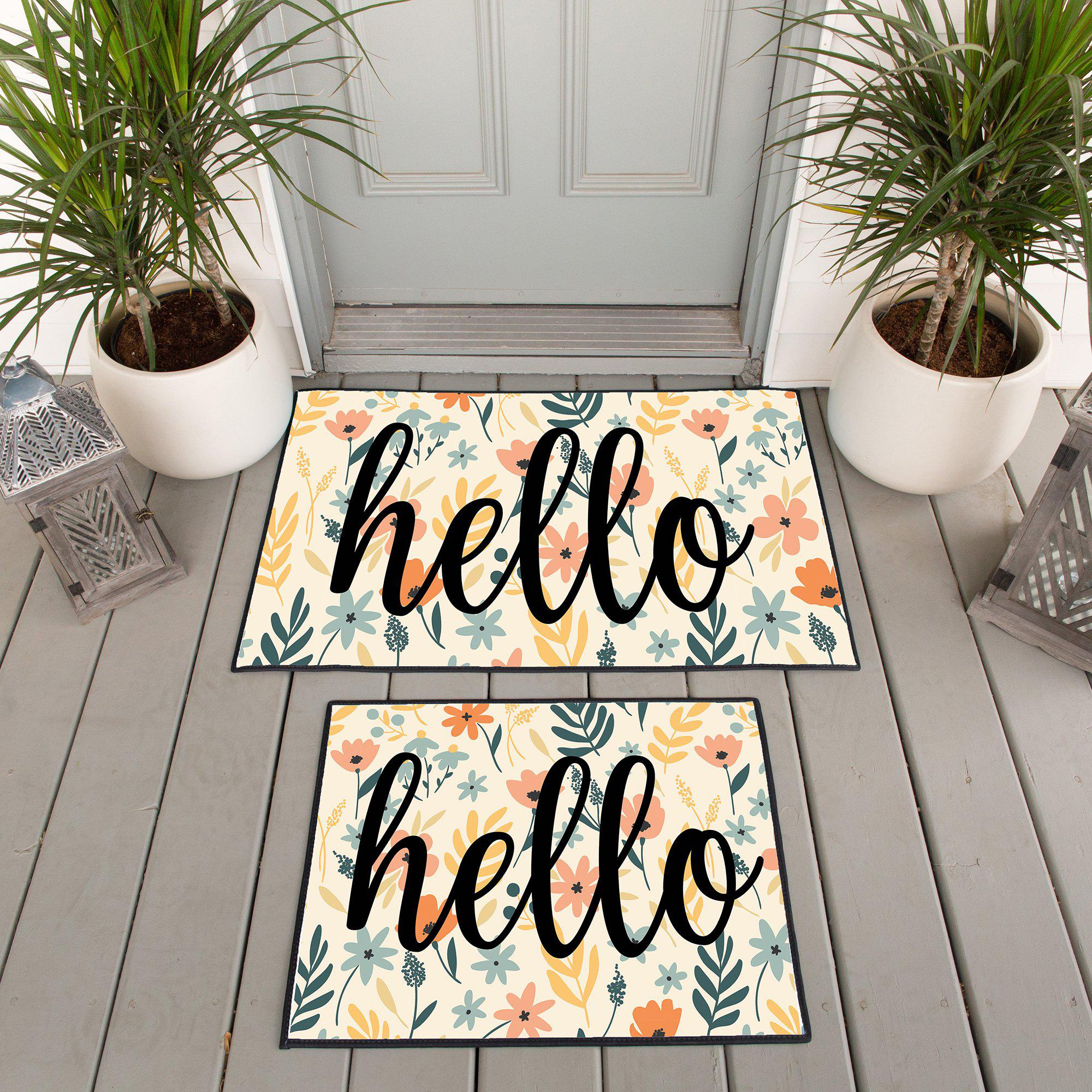 Personalized Floral Doormats