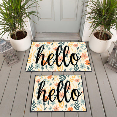 Personalized Floral Doormats - Medium - Qualtry