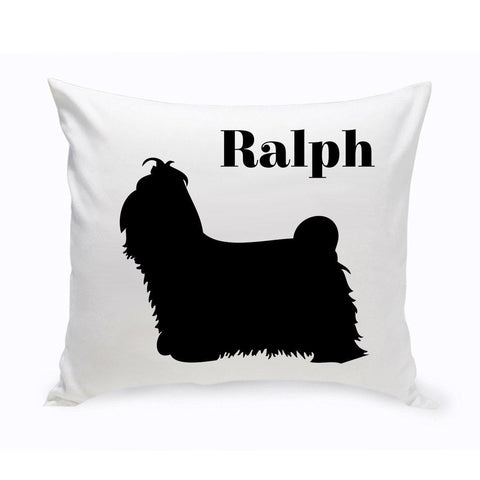 Monogrammed Dog Throw Pillow -  Classic Silhouette - ShihTzu - Pet Gifts - AGiftPersonalized