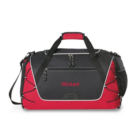 Personalized Duffle bage - Gym Bag - Travel Bag - Weekender - Red - Travel Gear - AGiftPersonalized