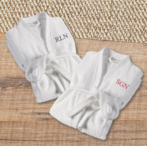 Personalized Bathrobe - Embroidered - Couples Bath Robes Set -  - Travel Gear - AGiftPersonalized