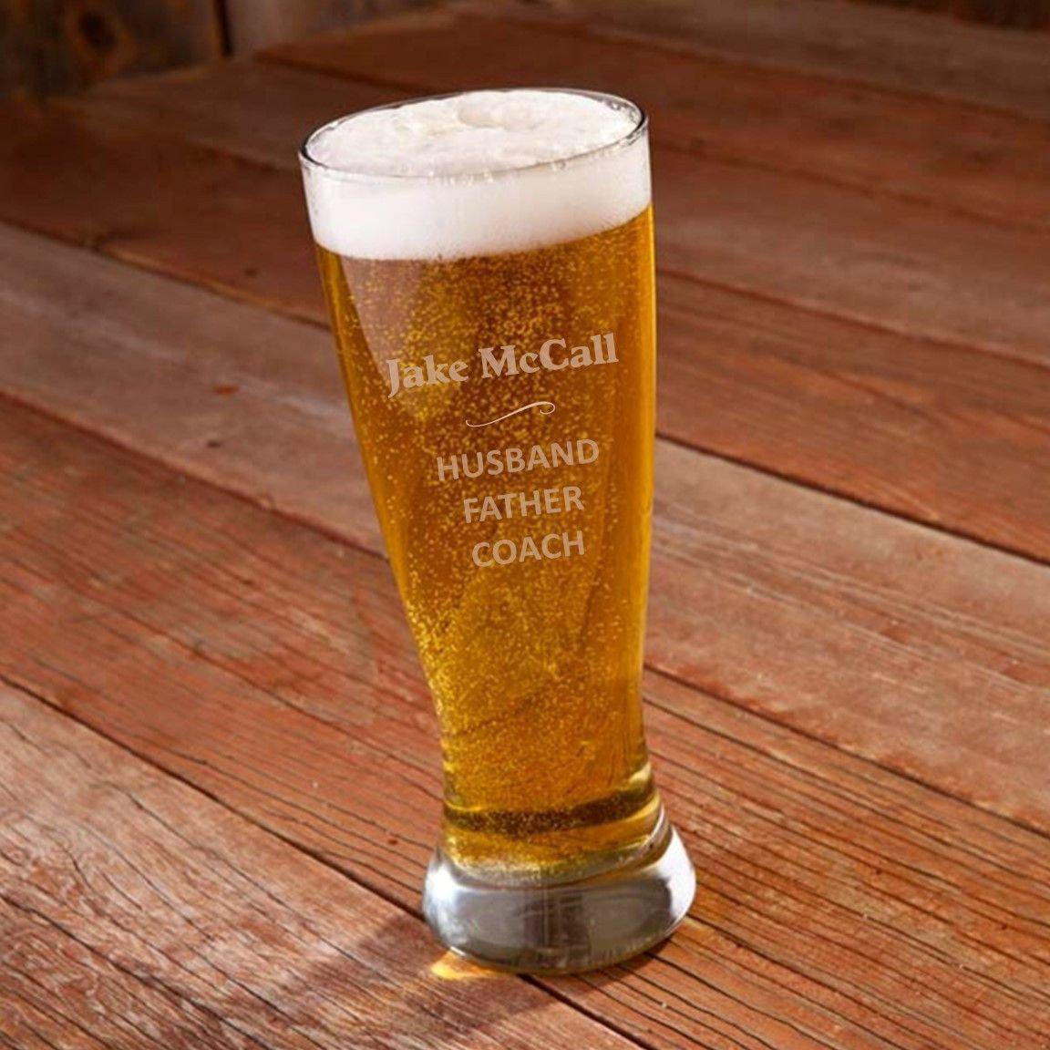 Personalized Engraved 22 oz. Pilsner - My Dad Defined