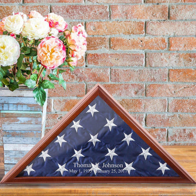 Personalized Flag Display Case -  - JDS