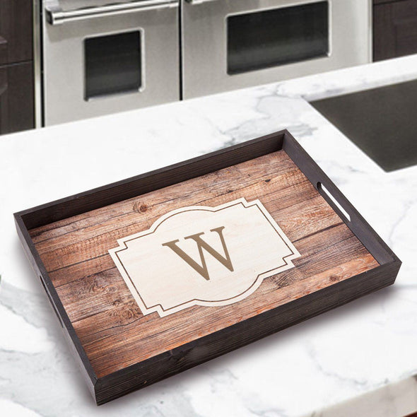 Personalized Serving Tray - SingleInitial - JDS