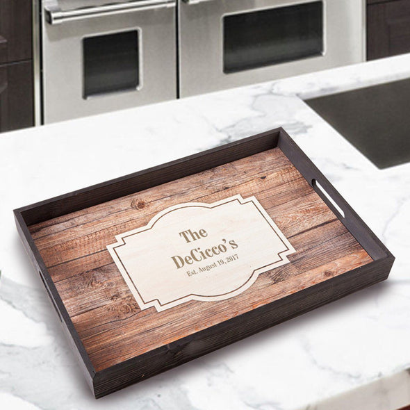 Personalized Serving Tray - LastName - JDS