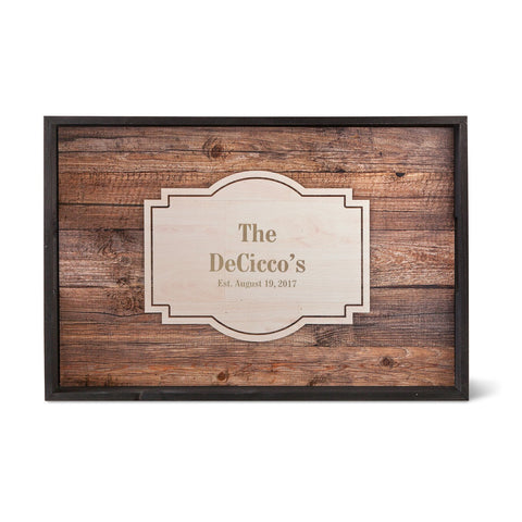 Personalized Serving Tray -