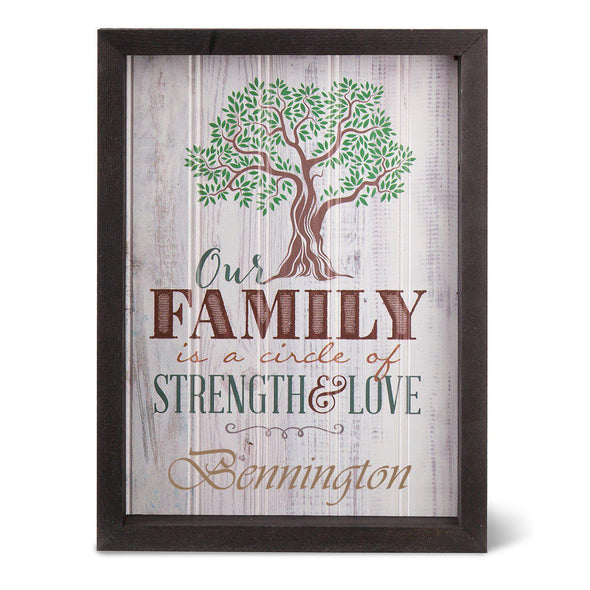 Personalized Family Tree Shadow Box -  - JDS