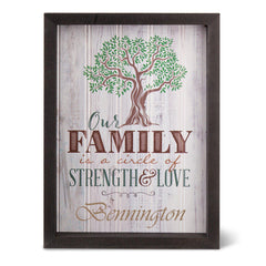 Personalized Family Tree Shadow Box -  -  - AGiftPersonalized