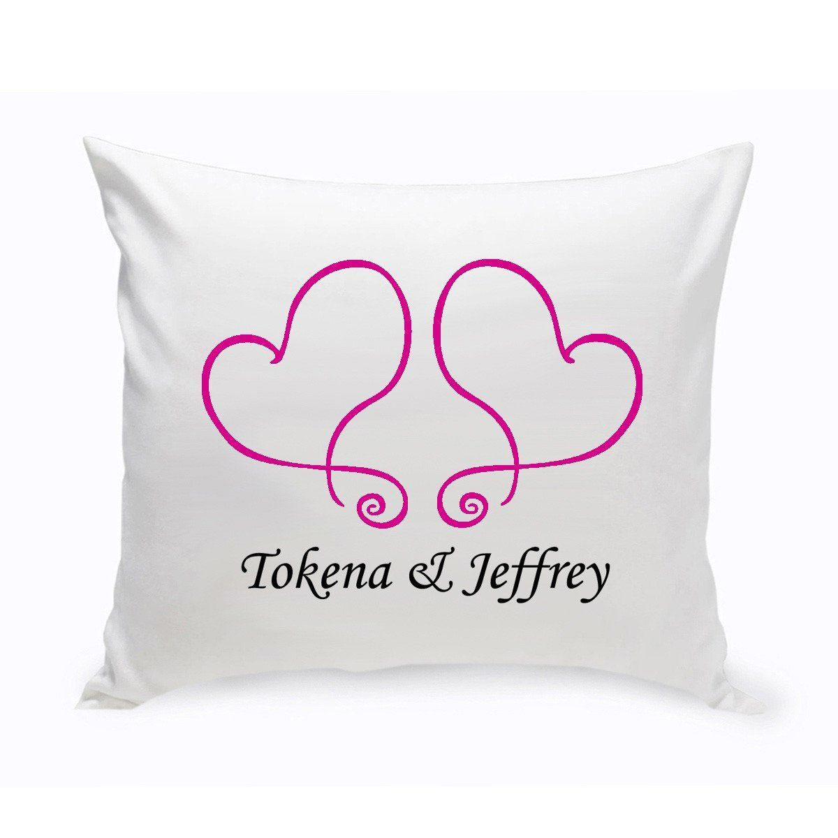 Personalized Heart Throw Pillow : Personalized Couples Unity Hearts Throw Pillow