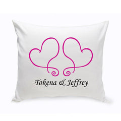 Personalized Couples Unity Throw Pillow - TwoHearts