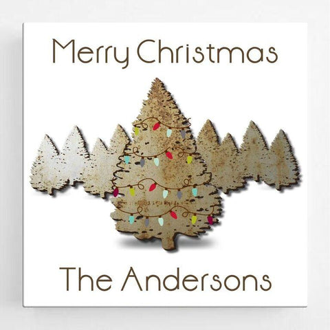 Personalized Christmas Canvas Sign - Spruce -  - Canvas Prints - AGiftPersonalized