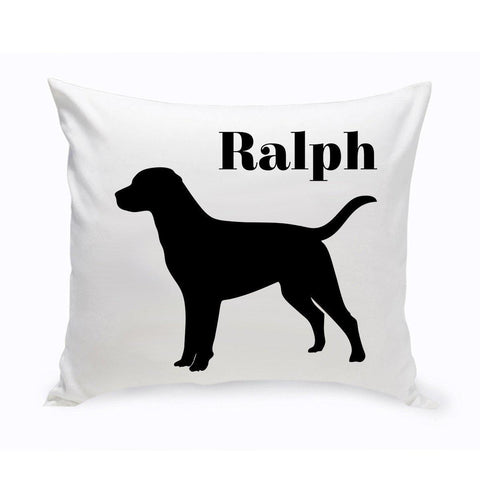 Monogrammed Dog Throw Pillow -  Classic Silhouette - Labrador - Pet Gifts - AGiftPersonalized
