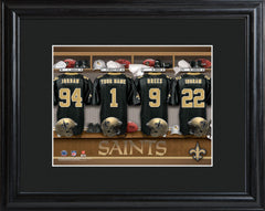 Personalized NFL Locker Sign w/Matted Frame - All Teams - Saints - Professional Sports Gifts - AGiftPersonalized