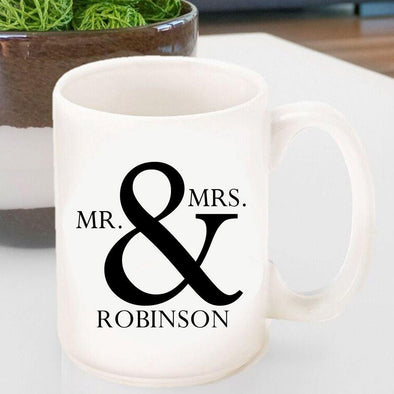 Personalized Mr & Mrs Coffee Mugs -  - JDS