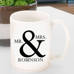 Personalized  Coffee Mug - Mr & Mrs - Classic -  - Home Decor - AGiftPersonalized